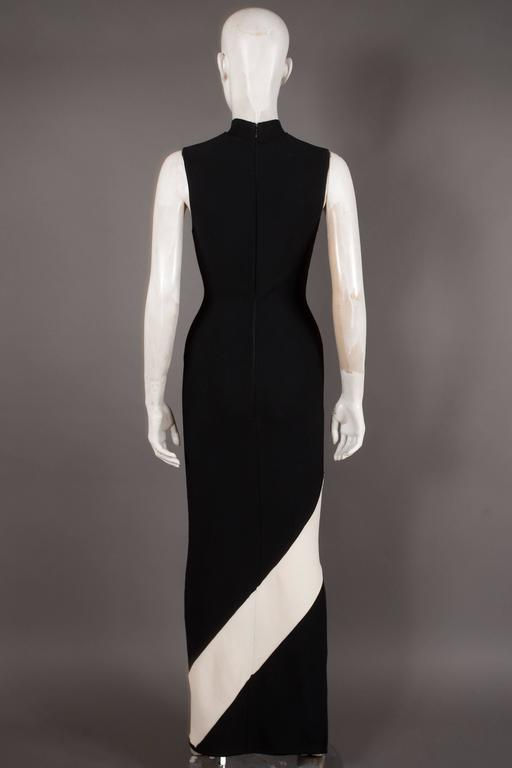 Herve Leger bias cut bandage evening dress, Circa 1996 6