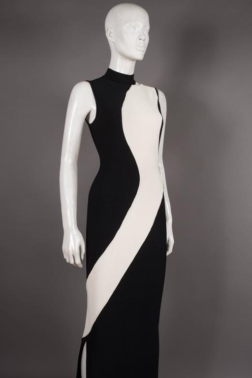 Herve Leger bias cut bandage evening dress, Circa 1996 4