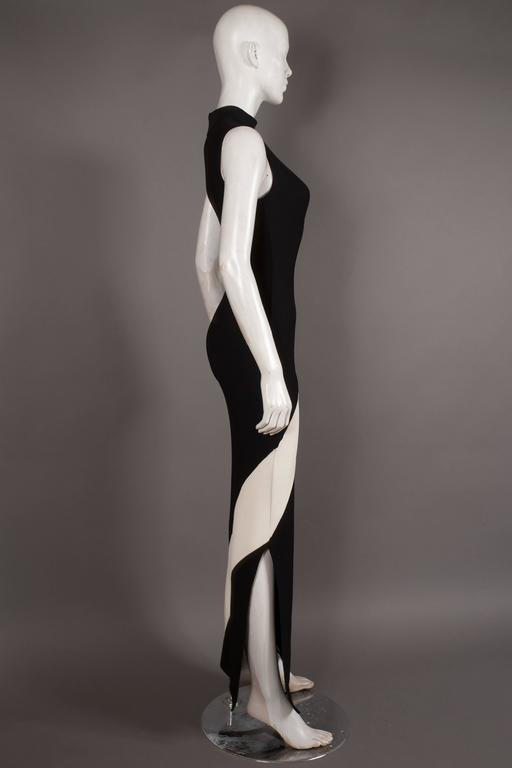Herve Leger bias cut bandage evening dress, Circa 1996 7
