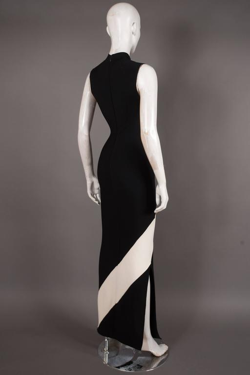 Herve Leger bias cut bandage evening dress, Circa 1996 5