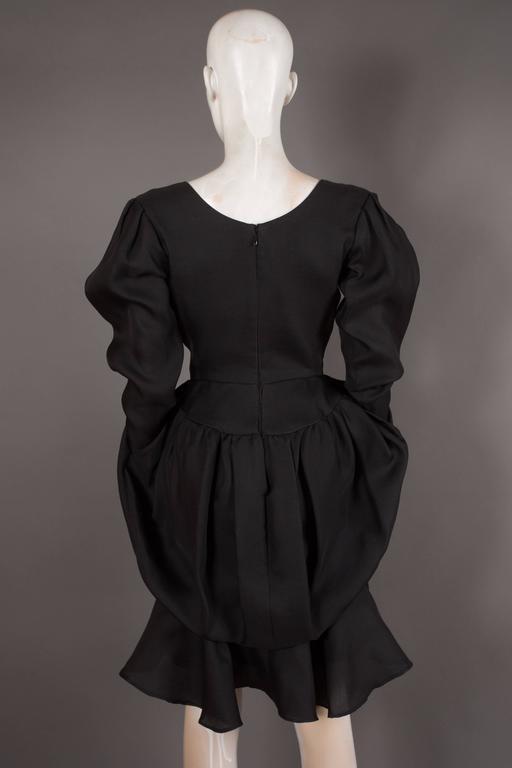 Yves Saint Laurent silk organza tulip dress, Circa 1993 For Sale 2