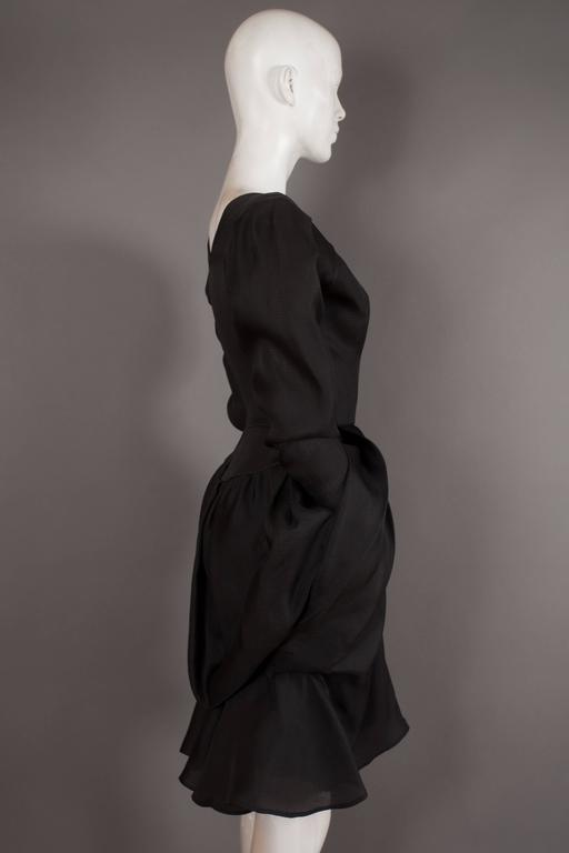 Yves Saint Laurent silk organza tulip dress, Circa 1993 In Excellent Condition For Sale In London, GB