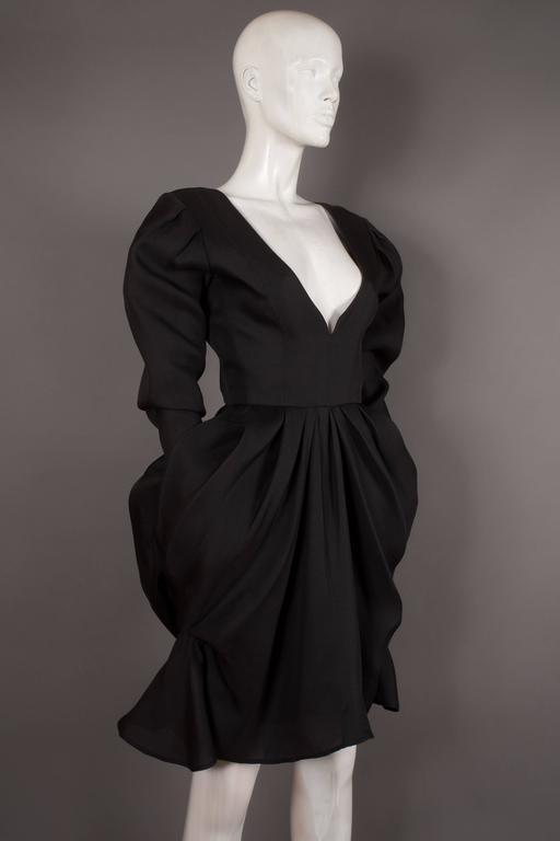 Women's Yves Saint Laurent silk organza tulip dress, Circa 1993 For Sale