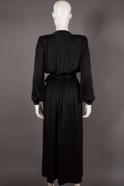 Yves Saint Laurent silk evening wrap dress, circa 1985 6