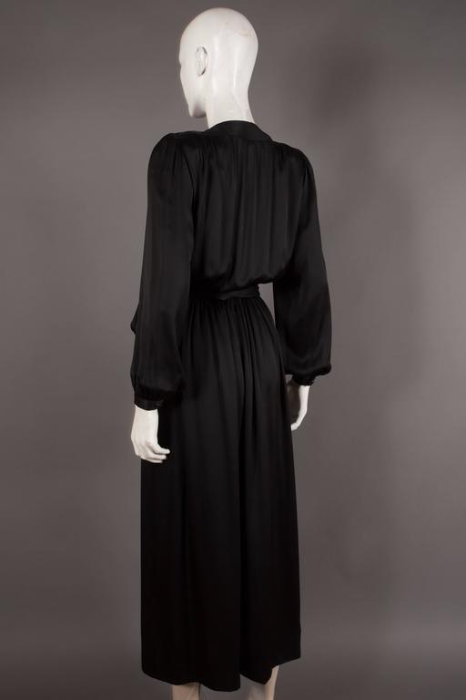 Yves Saint Laurent silk evening wrap dress, circa 1985 7
