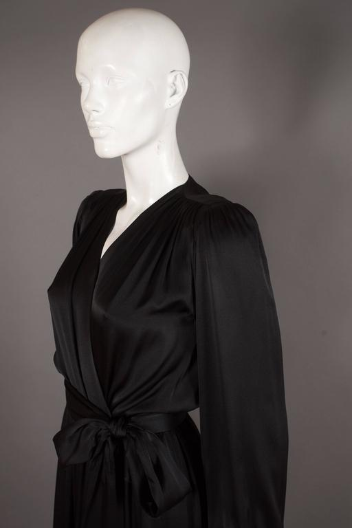 Yves Saint Laurent silk evening wrap dress, circa 1985 4