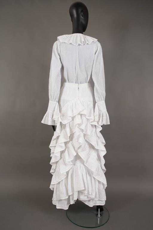 Mexicana white pintucked cotton and lace ensemble, circa 1960 2