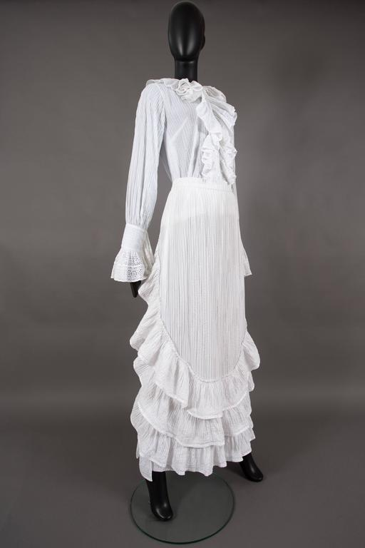 Mexicana white pintucked cotton and lace ensemble, circa 1960 3