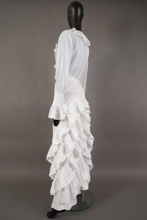 Mexicana white pintucked cotton and lace ensemble, circa 1960 4