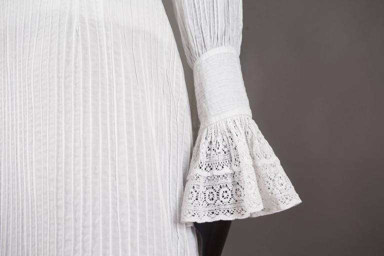 Mexicana white pintucked cotton and lace ensemble, circa 1960 8