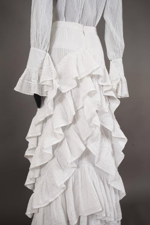 Mexicana white pintucked cotton and lace ensemble, circa 1960 5
