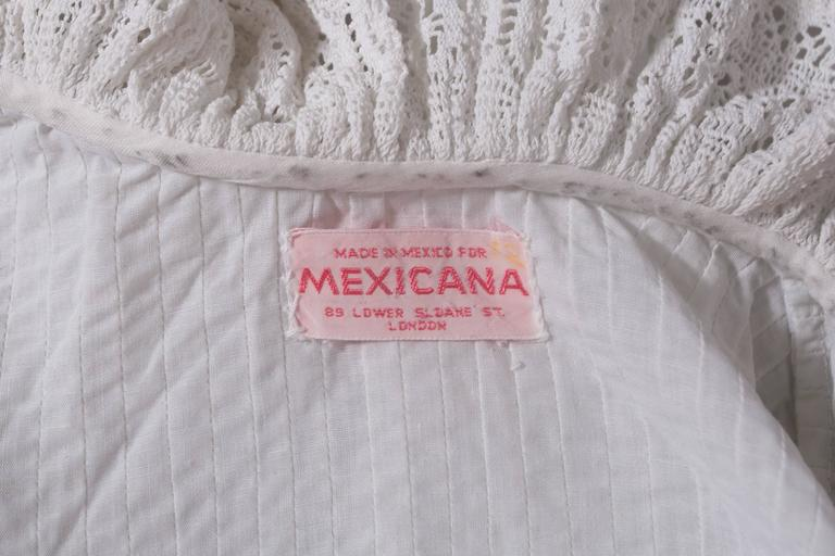 Mexicana white pintucked cotton and lace ensemble, circa 1960 10