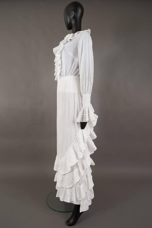 Mexicana white pintucked cotton and lace ensemble, circa 1960 7