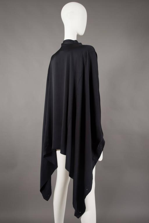 Gucci by Tom Ford black silk evening lace up poncho blouse, circa 2002 5