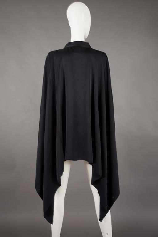 Gucci by Tom Ford black silk evening lace up poncho blouse, circa 2002 For Sale 1