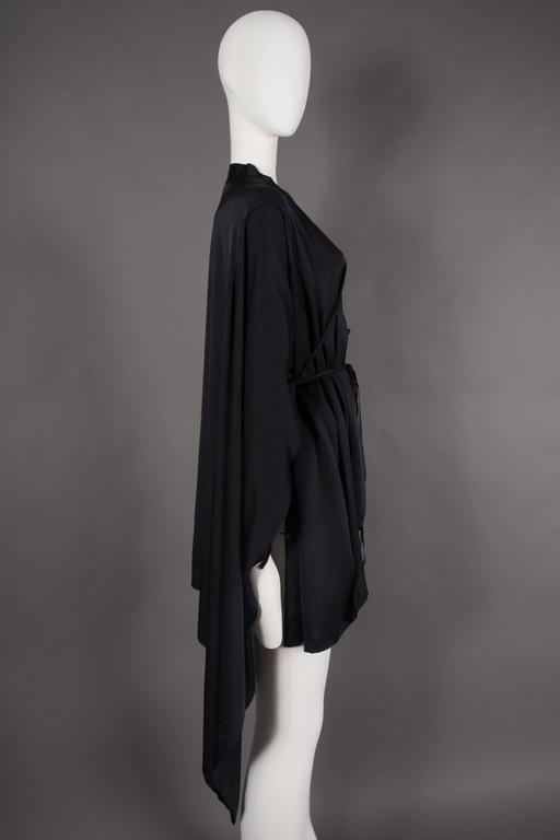 Gucci by Tom Ford black silk evening lace up poncho blouse, circa 2002 7