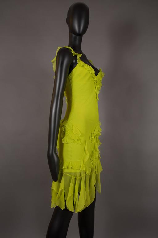 Women's Christian Dior by John Galliano silk chiffon evening mini dress, circa 1990s For Sale