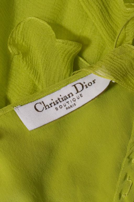 Christian Dior by John Galliano silk chiffon evening mini dress, circa 1990s For Sale 5