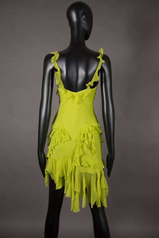 Christian Dior by John Galliano silk chiffon evening mini dress, circa 1990s In Excellent Condition For Sale In London, GB