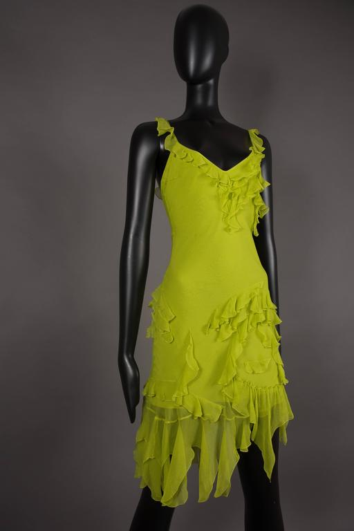 Christian Dior by John Galliano silk chiffon evening mini dress, circa 1990s 3
