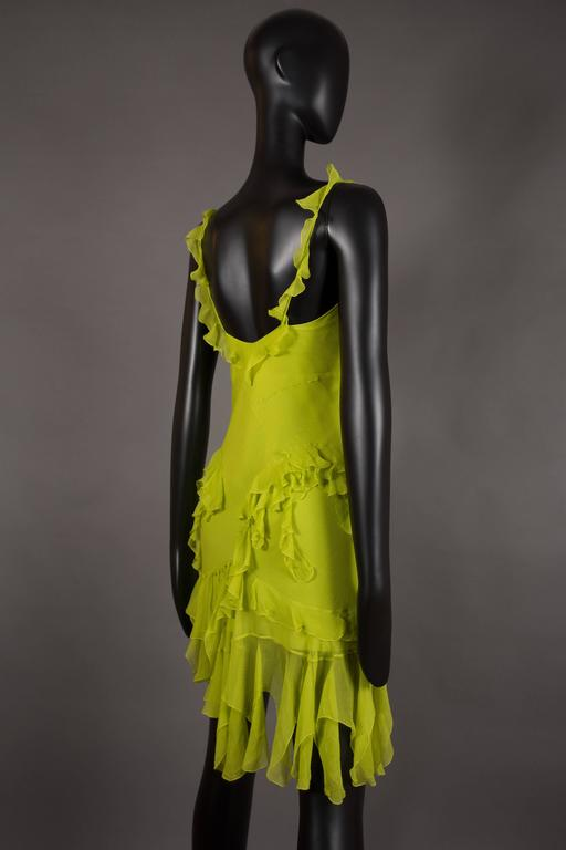 Christian Dior by John Galliano silk chiffon evening mini dress, circa 1990s For Sale 2