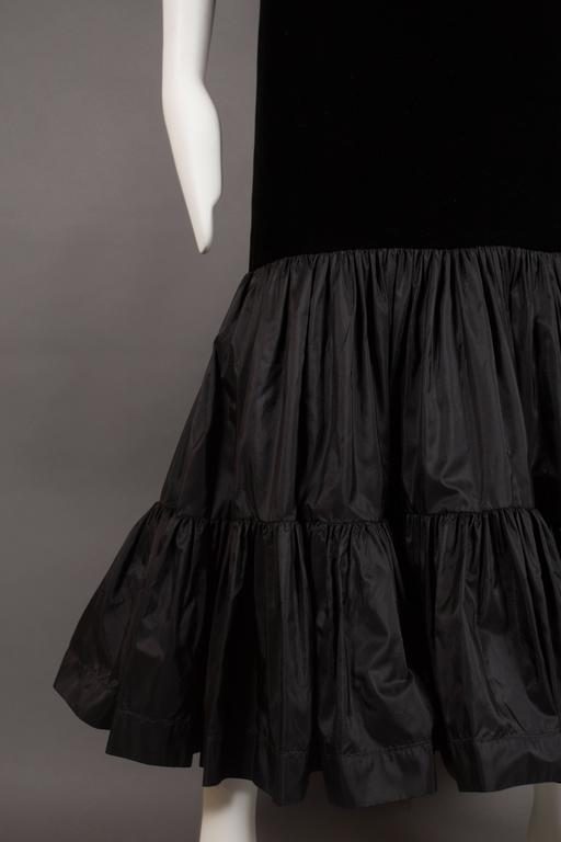 Yves Saint Laurent silk taffeta and velvet evening ensemble, circa 1977-78 9