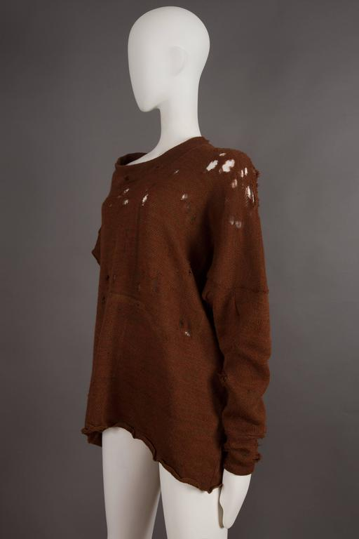 Worlds End by Westwood and McLaren asymmetric knitted sweater, circa 1981 In Good Condition For Sale In London, GB