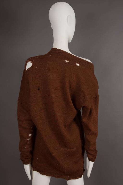 Women's or Men's Worlds End by Westwood and McLaren asymmetric knitted sweater, circa 1981 For Sale