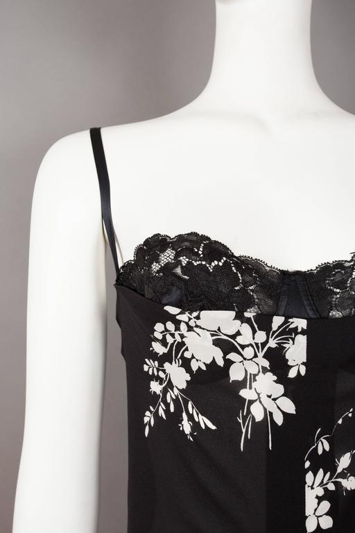 Dolce & Gabbana silk slip dress with internal bra, circa 1997 For Sale 3