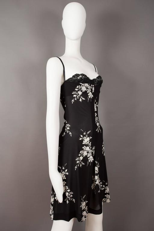 Women's Dolce & Gabbana silk slip dress with internal bra, circa 1997 For Sale