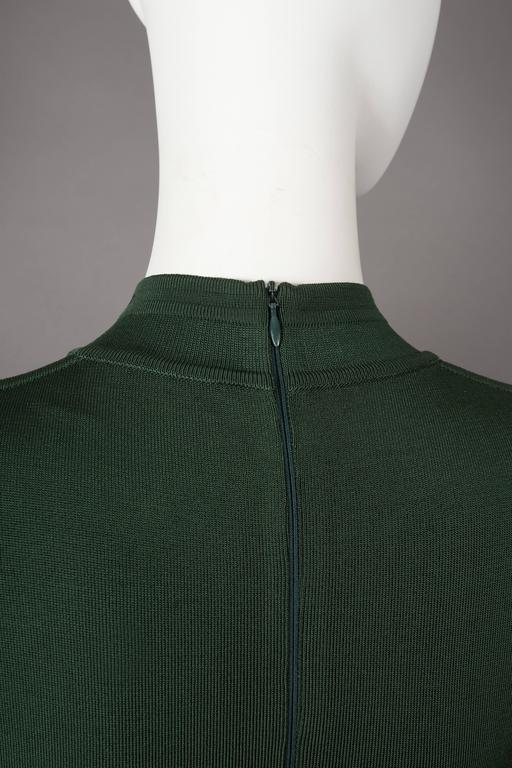 Alaia emerald green bodycon mini dress, circa 1991 For Sale 3