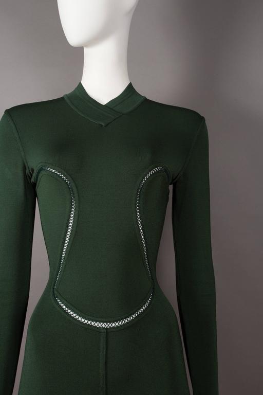 Green Alaia emerald green bodycon mini dress, circa 1991 For Sale