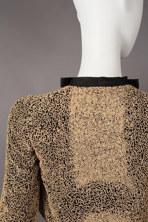Ribbon embroidered bolero evening jacket, circa 1930s 6