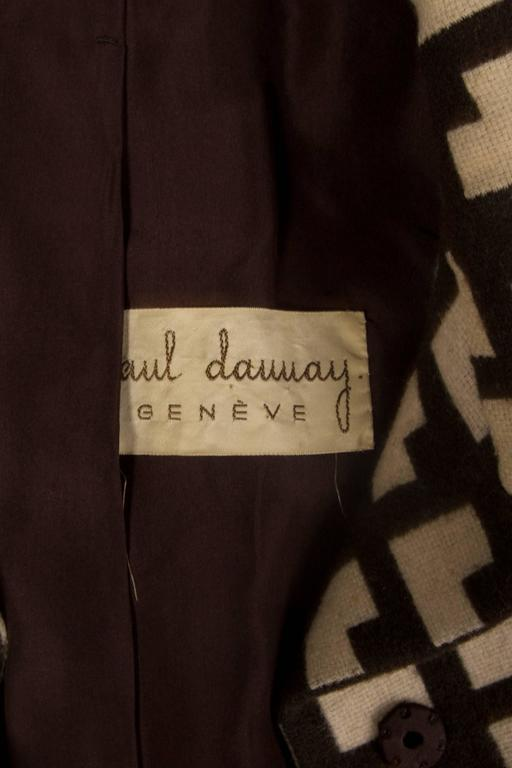 Paul Daunay Haute Couture Fall Daytime Ensemble, circa 1952-57 For Sale 3