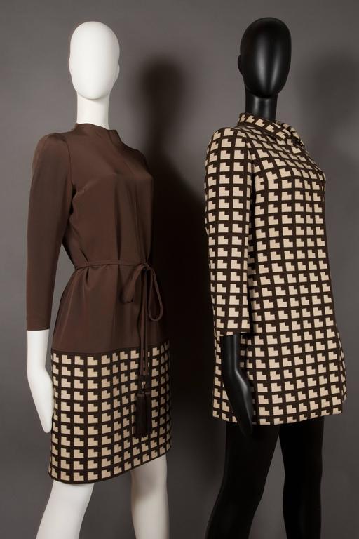 Women's or Men's Paul Daunay Haute Couture Fall Daytime Ensemble, circa 1952-57 For Sale