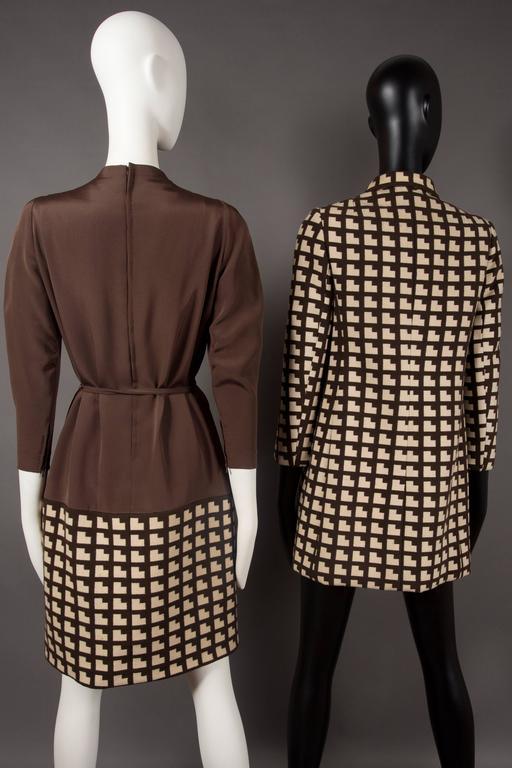 Paul Daunay Haute Couture Fall Daytime Ensemble, circa 1952-57 For Sale 2