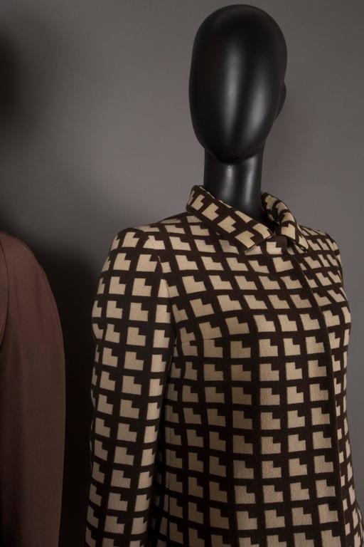Paul Daunay Haute Couture Fall Daytime Ensemble, circa 1952-57 For Sale 1