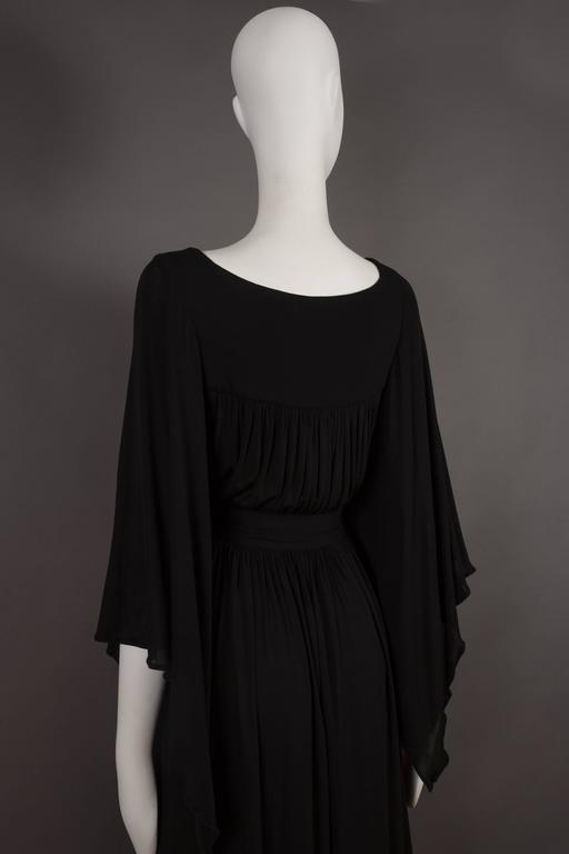 Quorum by Ossie Clark pleated jersey evening gown, circa 1965-68 For Sale 3