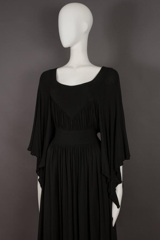 Quorum by Ossie Clark pleated jersey evening gown, circa 1965-68 4