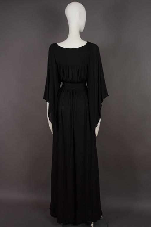 Quorum by Ossie Clark pleated jersey evening gown, circa 1965-68 5