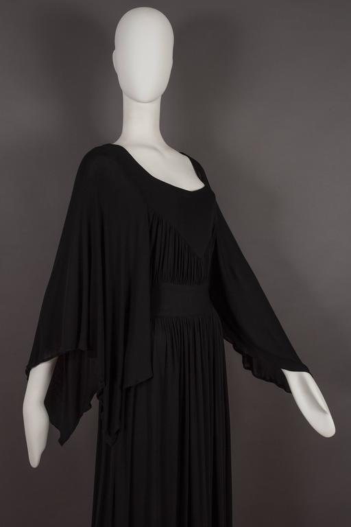Quorum by Ossie Clark pleated jersey evening gown, circa 1965-68 6