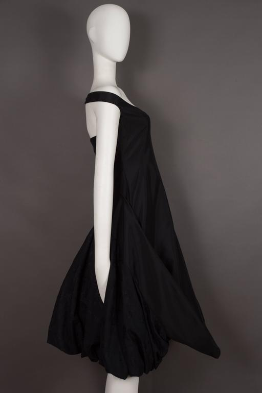 Alexander McQueen black cocktail dress with bustle, circa 2002 4