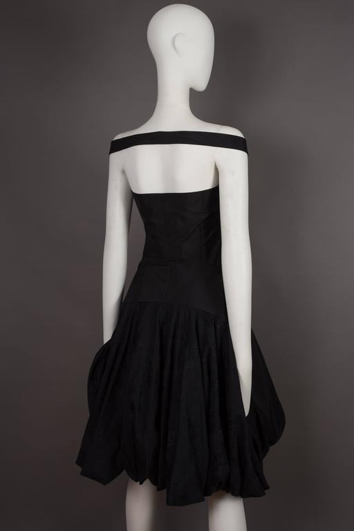 Alexander McQueen black cocktail dress with bustle, circa 2002 8