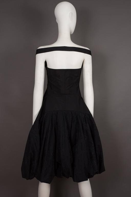 Alexander McQueen black cocktail dress with bustle, circa 2002 6