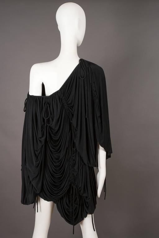 Dolce & Gabbana drawstring jersey mini dress, circa 2003 For Sale 3