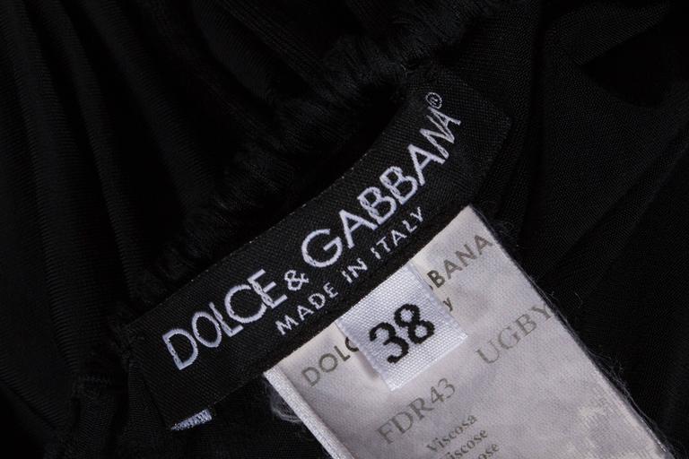Dolce & Gabbana drawstring jersey mini dress, circa 2003 For Sale 5