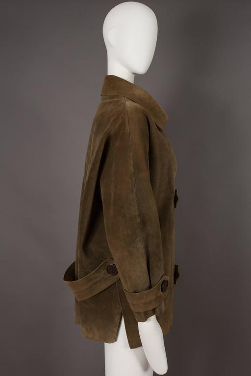 Women's Yves Saint Laurent Haute Couture Oversized Suede Coat, circa 1963 For Sale