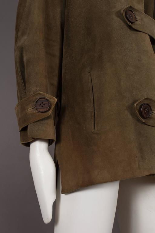 Yves Saint Laurent Haute Couture Oversized Suede Coat, circa 1963 For Sale 3