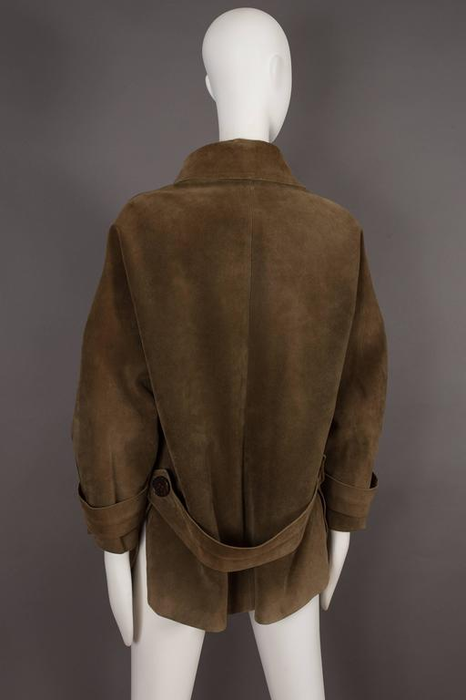 Yves Saint Laurent Haute Couture Oversized Suede Coat, circa 1963 For Sale 1