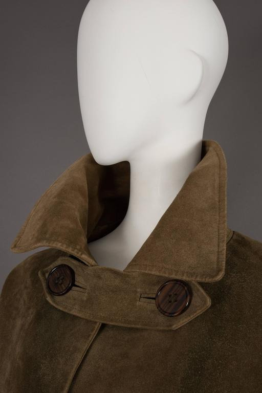 Yves Saint Laurent Haute Couture Oversized Suede Coat, circa 1963 For Sale 4